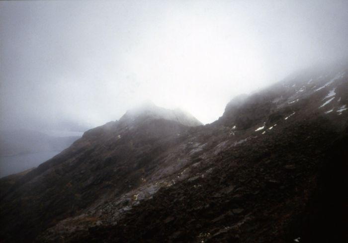Cuillin ridge in snow