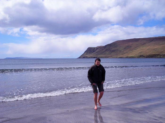 Paddling on Glen Brittle Beach
