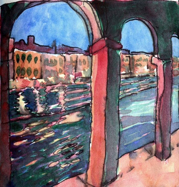 View onto the Grand Canal, Venice